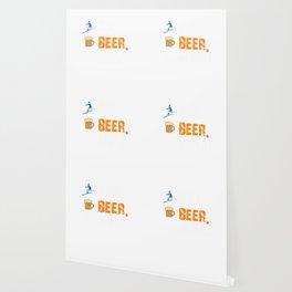 Funny Ski Beer Repeat Skiing & Skiers Wallpaper