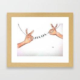 That delicate balance Framed Art Print