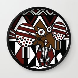 African Tribal Pattern No. 37 Wall Clock