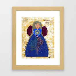 Weave Love Angel Framed Art Print