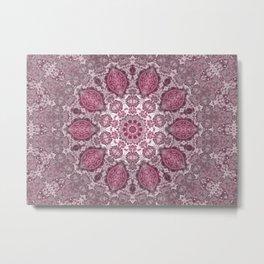 mandala purple Metal Print