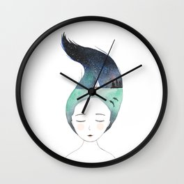 Dreaming about traveling the world Wall Clock