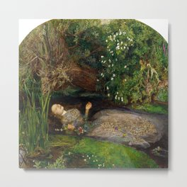 John Everett Millais's Ophelia Metal Print