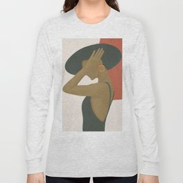 Lady in a Black Dress Long Sleeve T-shirt