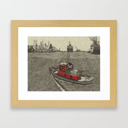 Morgan Tugboat, Hudson river, New York Framed Art Print