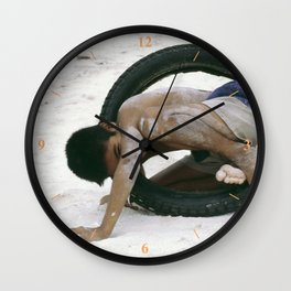Well Tyred! Wall Clock