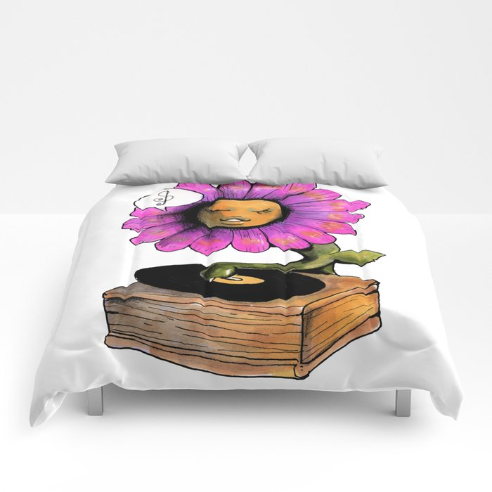 music spring floral Comforters