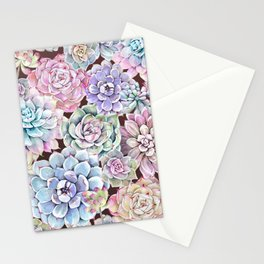 succulent allover Stationery Cards