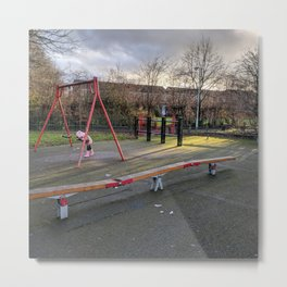 A Lonely Playground Scene Metal Print