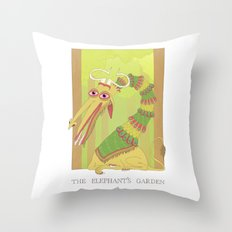 The Elephant's Garden - The Perpetual Glibb Throw Pillow