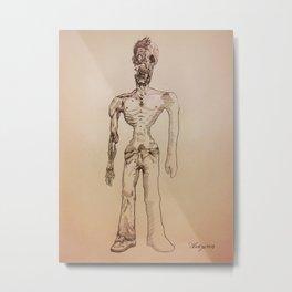 Zombie Metal Print