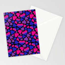 Bisexual Pride Hearts Stationery Cards