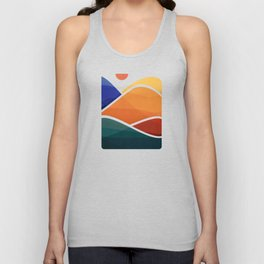 Meditative Mountains Unisex Tank Top
