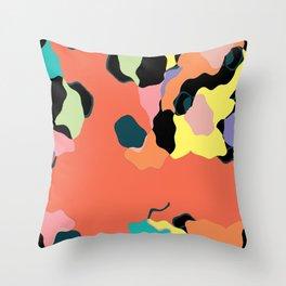 Descending Color Throw Pillow