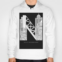 nyc Hoodies featuring NYC  by Robert Farkas
