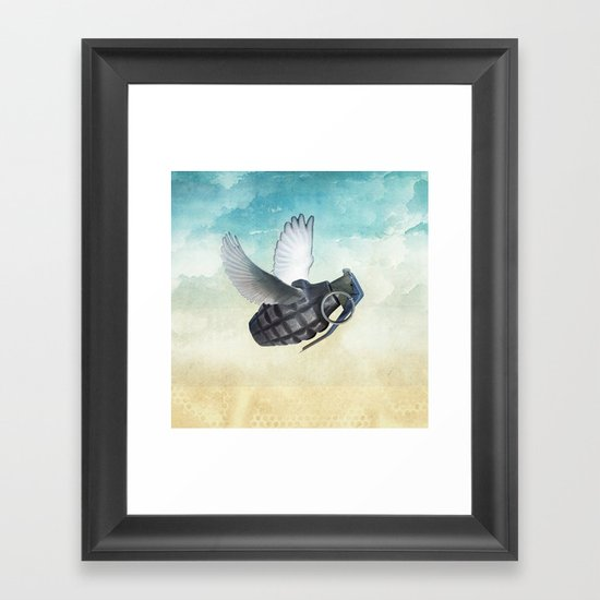 war and peace Framed Art Print