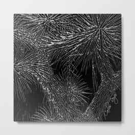 Joshua Tree Silver by CREYES Metal Print