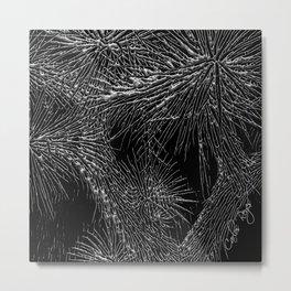 Joshua Tree Silver by CREYES Metal Print