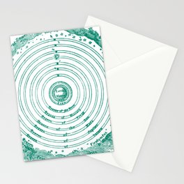 The Crystalline Spheres of Ptolemy Stationery Cards