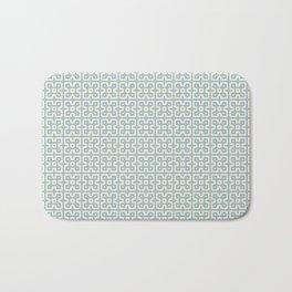 Yellow & Blue Geometric Greek Key Pattern Bath Mat
