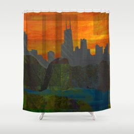 Sunset City (Chicago) Shower Curtain