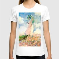monet T-shirts featuring Claude Monet : Woman With A Parasol by PureVintageLove
