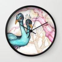 bleach Wall Clocks featuring Bleach out all the Dark by Curtis Reynolds