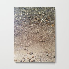 Pebbles in Water Metal Print