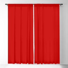 Bright red Blackout Curtain