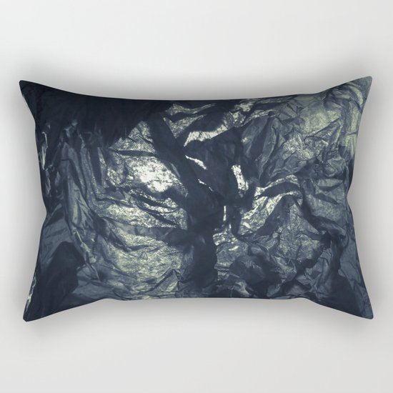 Black paper Rectangular Pillow