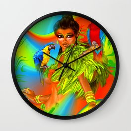 Birds of Paradise Wall Clock