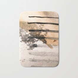 Desert Musings - a watercolor and ink abstract in gray, brown, and black Bath Mat