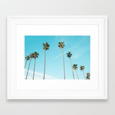 Perfect Palm Trees Framed Art Print