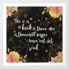 Life is a book Art Print