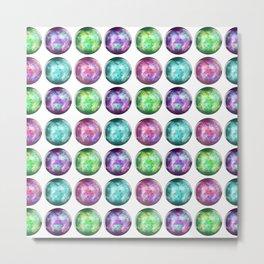 Crystal Ball Pattern Metal Print