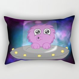 Flying Saucer Alien Rectangular Pillow