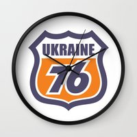 ukraine Wall Clocks featuring DgM UKRAINE 76 by DgMa