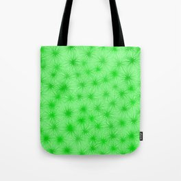 Green Fuzzball Abstract Tote Bag