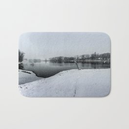 Panoramic Rock River - Illinois Bath Mat
