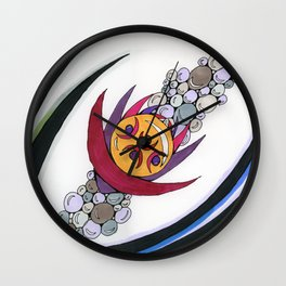 Bubble Sword Wall Clock