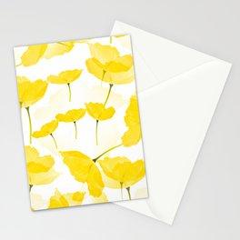 Light Yellow Poppies Spring Summer Mood #decor #society6 #buyart Stationery Cards