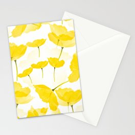 Light Yellow Poppies Spring Summer Mood #decor #society6 #buyart Stationery Cards