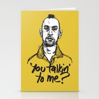 taxi driver Stationery Cards featuring Taxi Driver by Dave Flanagan