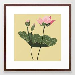 Lotos botanical illustration Framed Art Print