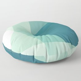 Lagoon – modern polygram illustration Floor Pillow