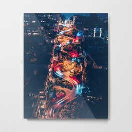 Very Curvy Metal Print