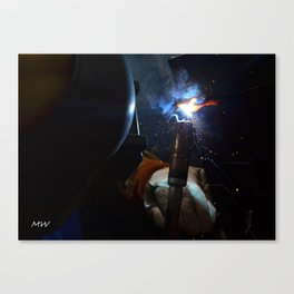 Cherry Weld Canvas Print