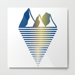 Mountain & Inlet Metal Print