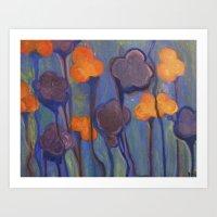 Flowered Atmosphere Art Print