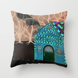 Hansel & Gretel Adrift Throw Pillow